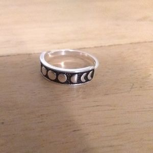Ring - Moon Phases Ring - Stamped - Size 5